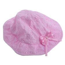 Lovely Baby Lace Infant Kids Girls Toddler Bow Flower Cloth Hat Sun Hollow Cap
