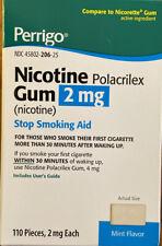 Nicotine Gum~110 PIECES ~ 2mg ~ Mint Flavor ~ EXPIRATION 09/2020~Perrigo