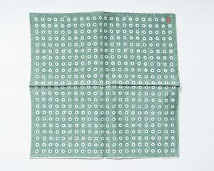 "Isaia Napoli NWT Green White Blue Floral Pattern Silk Pocket Square 12"""