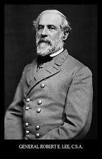 General Robert E Lee, C.S.A. Confederate Civil War 1864 Photo Reprduction Print