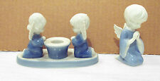 Praying Angels Candleholder Colonial Candle Japan & Boy Angel 4565