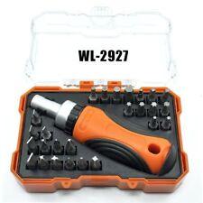 27-in-1 Torx Hex +/- Bits Precision Ratchet Screwdriver Tool Set