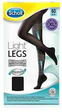 Scholl Light Legs X-large Womens Compression Tights Circulation 60 Den Black XL