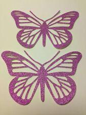 "Set of 6 Glitter Butterflies DIE CUTS 3"" H #4359"