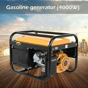 4000W Petrol Generator Portable 4-Stroke OHV 1-Cylinder Recoil Start 230V
