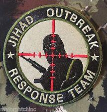JIHAD OUTBREAK RESPONSE TEAM INFIDEL ARMY MULTICAM VELCRO® BRAND FASTENER PATCH
