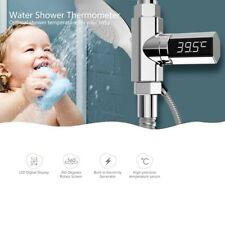 Bath LED display water thermometer temperature gauge visible waterproof bathroom