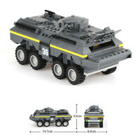 Armored Car Building Blocks Military Tank Army Bricks Assembling Granular Toys