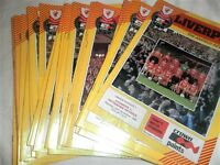LIVERPOOL HOME PROGRAMMES FROM 1982/3 - CHOOSE FROM LIST
