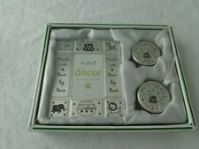 Baby's First Curl & First Tooth Keepsake Boxes with Silver Tone Photo Frame New