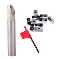 45 Degree Centering Chamfering Cutter Holder Carbide End Mill Insert Blade Kit