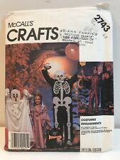 McCall's Halloween Costume Patterns 2743 Witch Skeleton Princess Ghost Size 6 -8