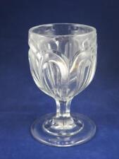 VINTAGE CRYSTAL GLASS Sundae Dish Indented Teardrop Pattern