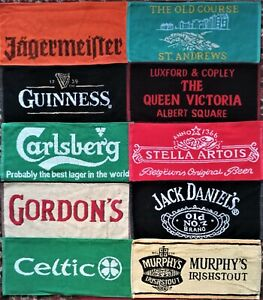 10 Different Beer - Bar Towels -  New Lot 6