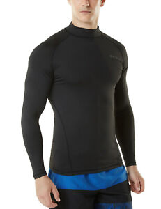 TSLA Men's UPF 50+ Long Sleeve Rash Guard, UV/SPF Quick Dry Swim Shirt