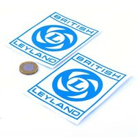 British Leyland Badge Sticker Decal Classic Car Vinyl 100mm x2 Land Rover Austin