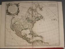 NORTH AMERICA 1750 ROBERT DE VAUGONDY ANTIQUE ORIGINAL COPPER ENGRAVED MAP
