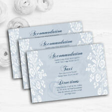 Vintage Lace Pale Blue Chic Personalised Wedding Guest Information Cards