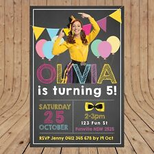 Personalised WIGGLES EMMA WIGGLE Party Invites Invitations DIGITAL -  YOU PRINT