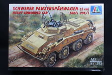 XT067 ITALERI 1/35 maquette tank 294 Schwerer Panzerspahwagen 2 cm SdKfz 234/1
