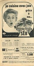 F- Publicité Advertising 1959 Autocuiseur Super-cocotte SEB