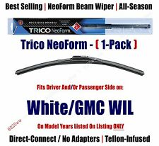 (Qty 1) Super Premium NeoForm Wiper Blade fits 1991-1992 White/GMC WIL  16200