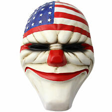 Payday2 The Heist Stars & Stripes Clown Resin Mask Dallas