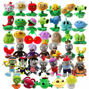 Plants vs Zombies Plush Figure Characters 18-35cm Plush Toy Peashooter Zombie