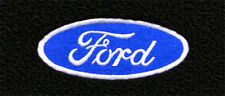Mustang 1979-1993 Black Carpet Floor Mats 4PC w/Ford Oval Script Logo on Fronts