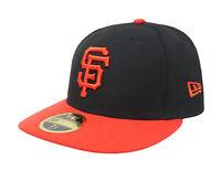 New Era 59Fifty Hat Mens MLB San Francisco Giants Black Orange Low Profile Cap