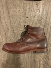 Wolverine 1000 Mile Mens Leather Boots sz 10.5 Brown