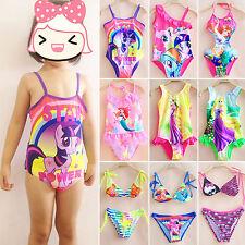 BAMBINI RAGAZZA CARTONE ANIMATO Costume intero Set Bikini spiaggia estiva