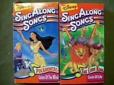 (3 VHS) 2 Disney Sing Along Songs Pocahontas/The Lion King & Kidsongs w/ Lyrics