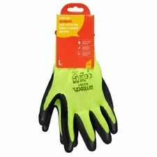 Amtech Hi-Vis Latex Coated Gloves Large Size:9 Durable High Quality