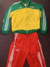 Adidas Track Suit Ethiopia Very Rare Green Yellow White Red Rasta US L UK42-44