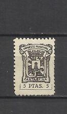 1918-SELLO FISCAL LOCAL CARTAGENA IMPUESTOS 5 PESETAS