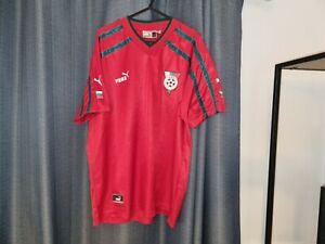 BULGARIA Puma Football Shirt Soccer Jersey 2000 2002 Red Away Large L Top