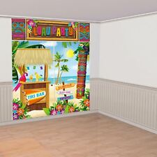6ft Hawaiian Luau Beach Party Tiki Hut Selfie Photo Scene Setter Wall Decoration