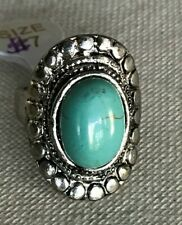 Turquoise DecorativeOval Ring Size 7 New
