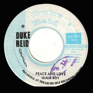 "U ROY-peace & love    duke reid 7""     (hear)      reggae  treasure isle"