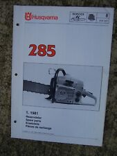 1981 Husqvarna 285 Chain Saw Illustrated Spare Parts List MORE IN OUR STORE  V