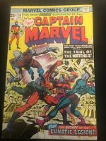 CAPTAIN MARVEL #38 - w/Watcher, Skrulls & Kree - Bronze Age 1975 - FN/VF 7.0