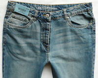 BNWT NEXT Relaxed Boyfit mid blue vintage wash tapered leg mid rise jeans R L