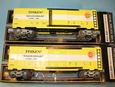 "Lot of 2 K-LINE K641-001 ""TIMKEN Roller Freight""  BOX CARS"