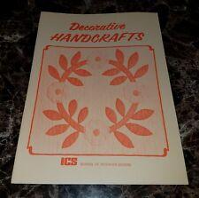"""DECORATIVE HANDCRAFTS"" ICS SCHOOL OF INTERIOR DESIGN (Paperback,1985)"