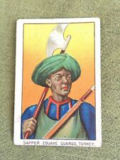 1910 T79 Military CARD Scarce-Lenox Back: Sapper Zouave Guards, TURKEY