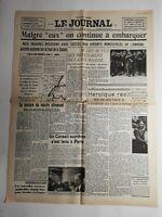 N357 La Une Du Journal Le journal 2 juin 1940  malgré eux continue à embarquée