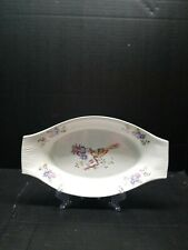 Antique NORSK EGERSUND NORWAY Casserole Au Gratin Dishes Bird Of Paradise
