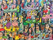 "James Rizzi: original 3D ""THE BRUNCH BUNCH"", handsigniert, vergriffen, Mini 2002"