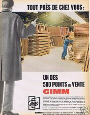 Publicité Advertising 026 1967 Gimm porte-fenêtre
